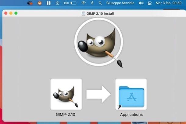 Installazione di GIMP