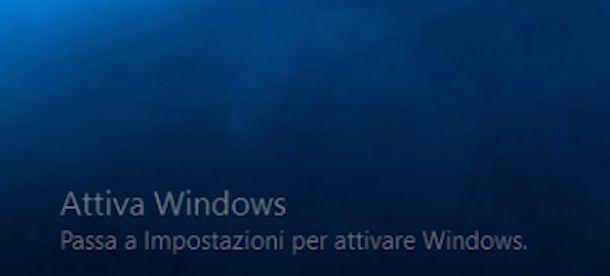 Attiva Windows