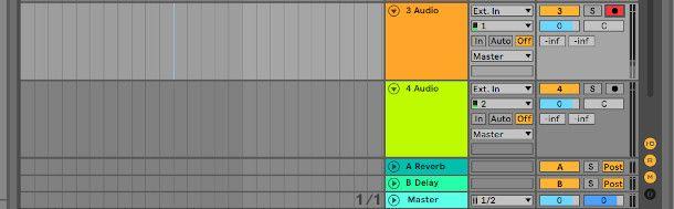 Traccia audio armata Ableton Live