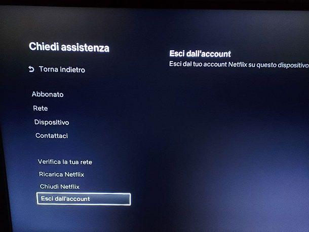 Come togliere Netflix dalla TV