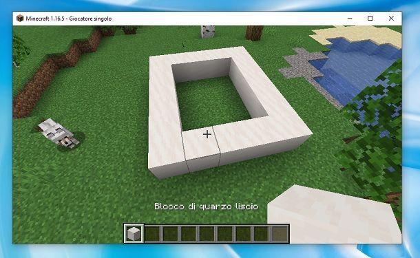 Base struttura Minecraft
