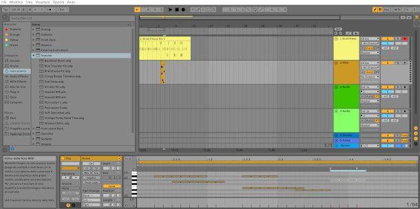 schermata creazione ritmo Ableton Live