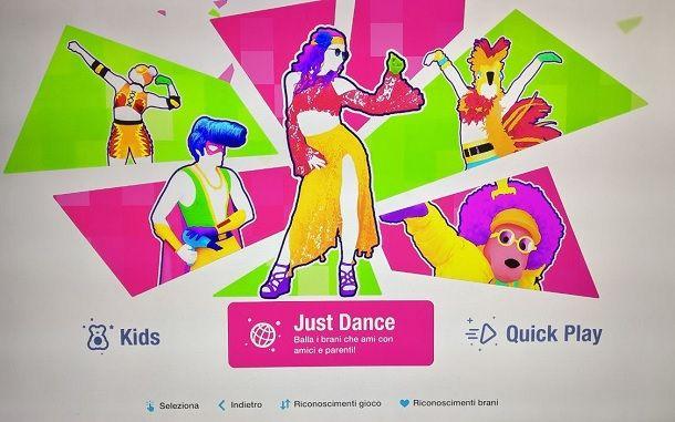 Just Dance 2021 menu