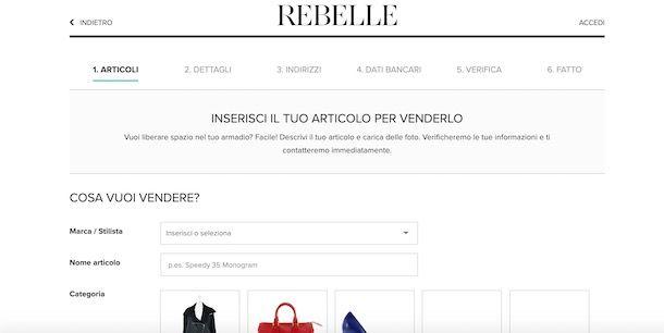 Siti per vendere abbigliamento online
