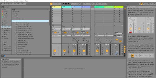 schermata avvio Ableton Live