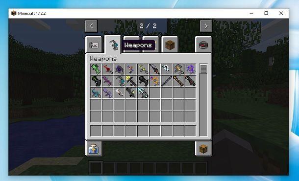Futuristic Weapons Mod Minecraft Inventario