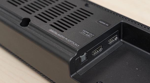 connettività soundbar