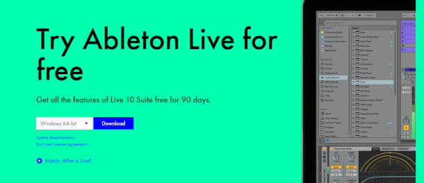Schermata download Ableton Live