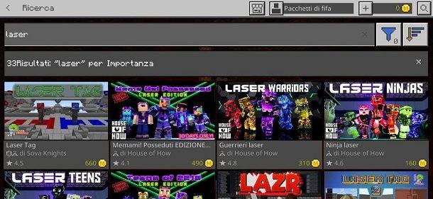 Laser Minecraft Bedrock