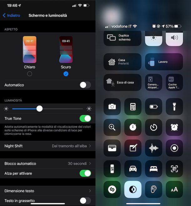 Modalità scura iOS