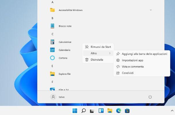 Aggiungere icona barra applicazioni Windows 11