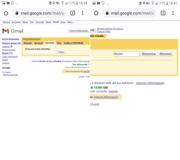 Gmail Android Web