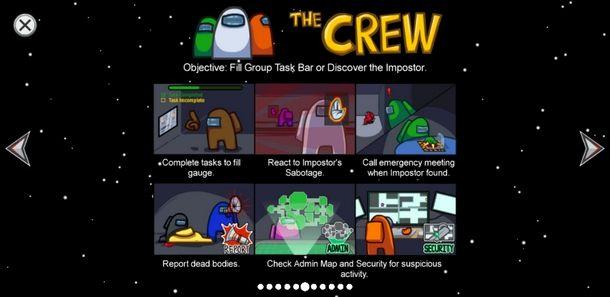 I compiti dell'equipaggio di Among Us