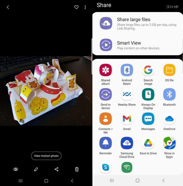 Trasferire dati usando l'NFC di Android Beam su Samsung
