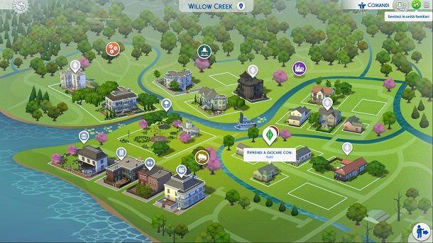 Gestisci unità familiari The Sims 4