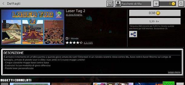 Laser Tag 2 Minecraft PE Bedrock