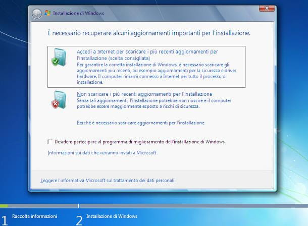 Come aggiornare Windows Vista a Windows 7