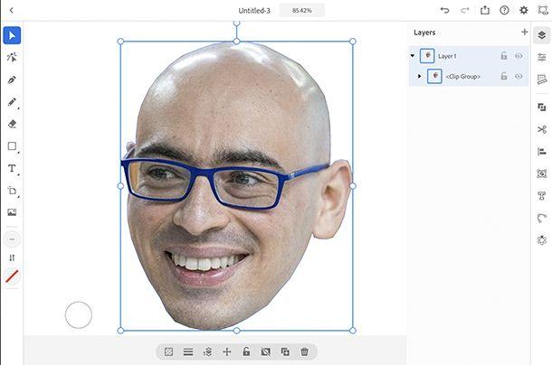 ritaglio immagine con ipad illustrator