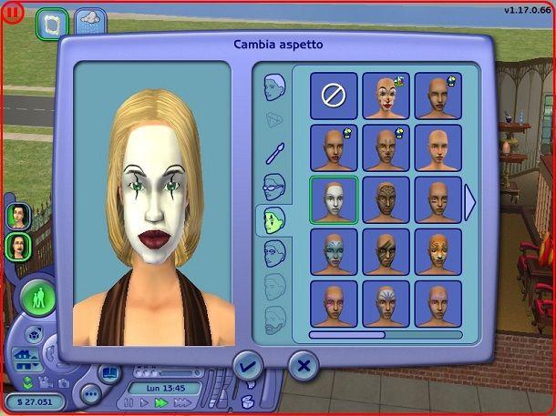 Specchio Modifica aspetto The Sims 2