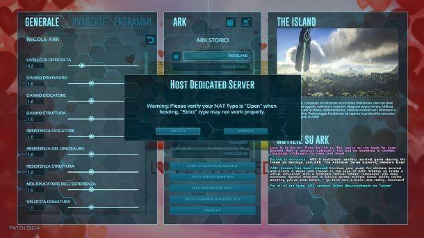 Come creare un server dedicato ARK PC