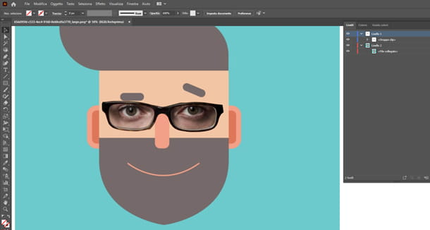 ritaglio occhiali salvatore con illustrator