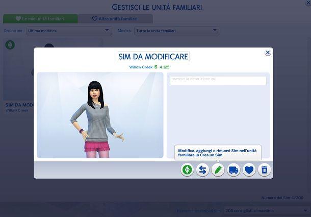 Sim da modificare The Sims 4