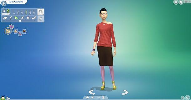 Abbigliamento capelli The Sims 4
