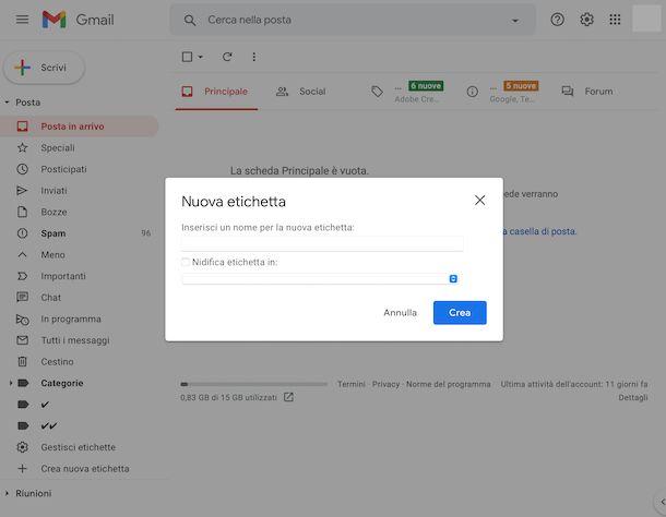 Etichette Gmail