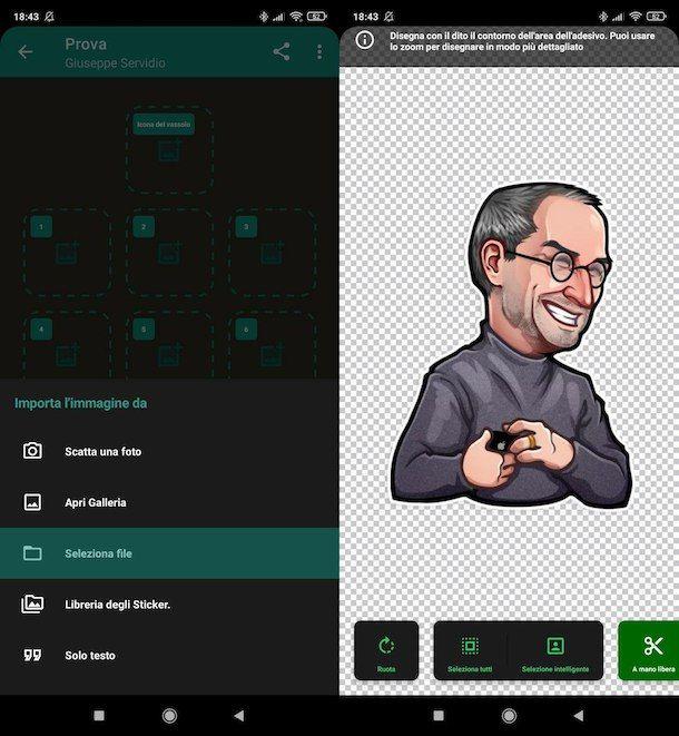Creare Sticker su Android