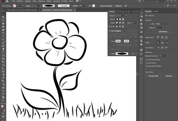 disegnare su illustrator per pc