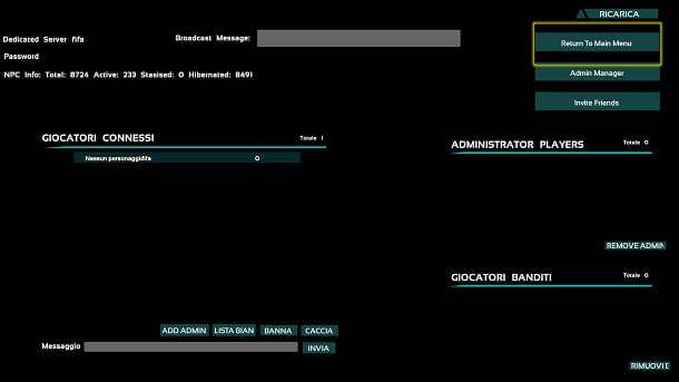 Gestione server dedicato console ARK