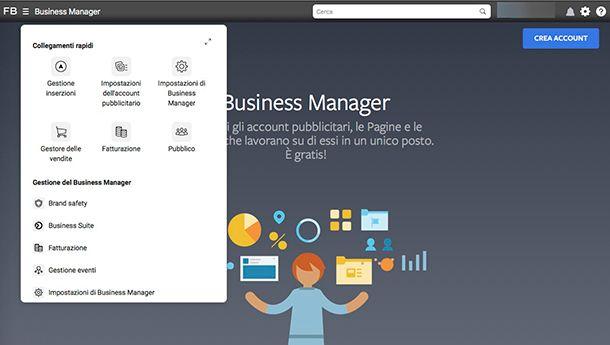 Come creare una Vetrina su Facebook con il Business Manager