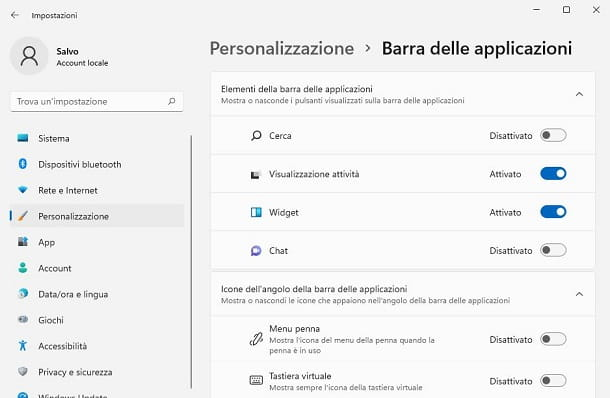 Cerca Windows 11