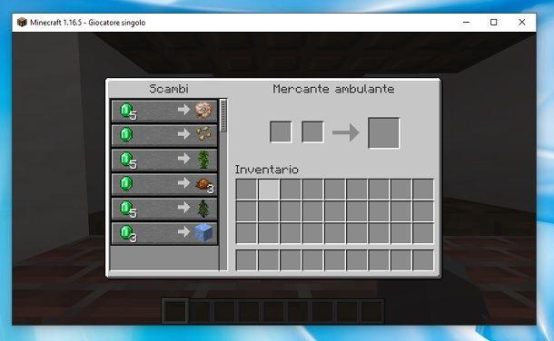 Commercio mercante ambulante Minecraft