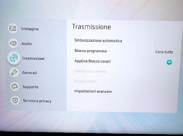 Sintonizzazione automatica Cielo TV Samsung