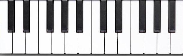 dettaglio tasti tastiera midi