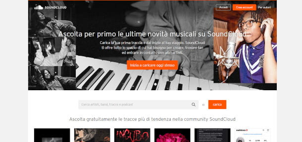 homepage soundcloud