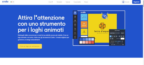 homepage Crello