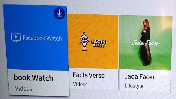 Installare Facebook Watch
