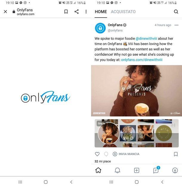 OnlyFans da mobile