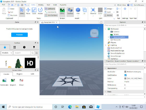 Interfaccia grafica di Roblox