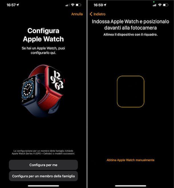 Abbinamento iPhone e Apple Watch