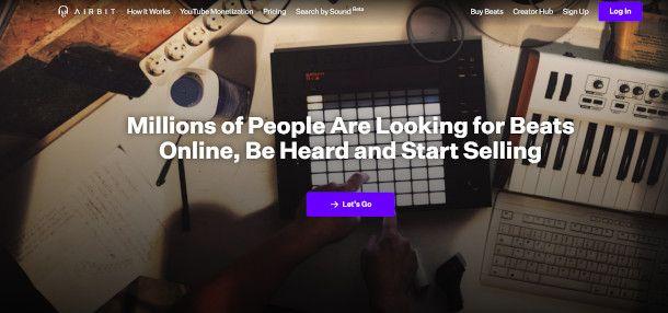 Airbit homepage