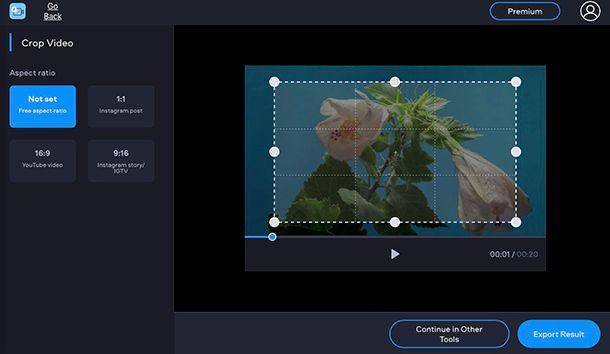 Come ritagliare l'immagine di un video con Clipchamp