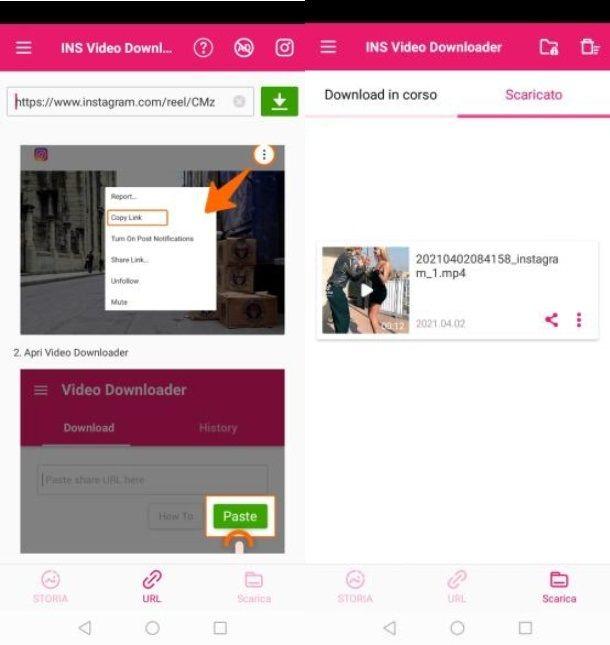 INS Video Downloader app