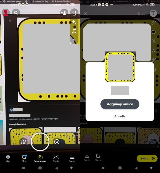 Scansionare Snapcode