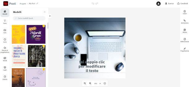 schermata Adobe Spark