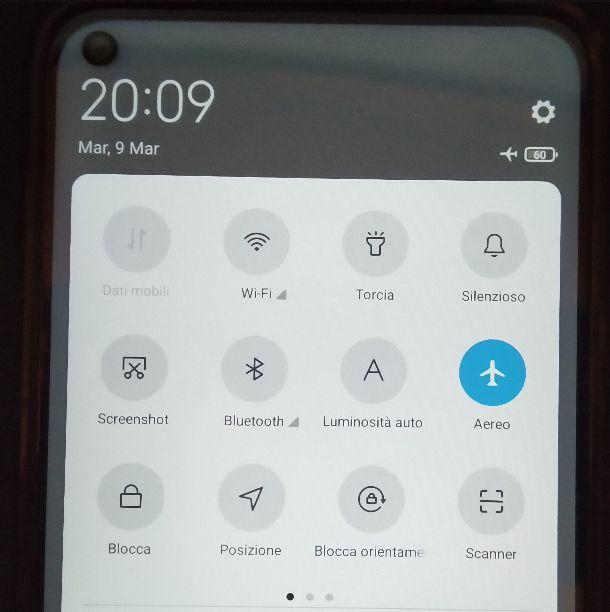 Modalità aereo Android