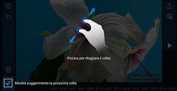 Come ritagliare l'immagine di un video con PowerDirector