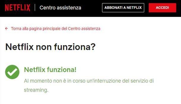 Problemi con Netflix oggi